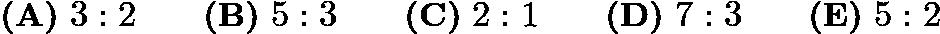$\textbf{(A)}\ 3:2\qquad\textbf{(B)}\ 5:3\qquad\textbf{(C)}\ 2:1\qquad\textbf{(D)}\ 7:3\qquad\textbf{(E)}\ 5:2$
