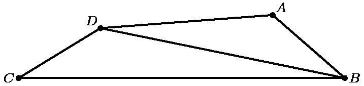 """[asy] unitsize(4mm); defaultpen(linewidth(.8pt)+fontsize(8pt)); dotfactor=4; pair C=(0,0), B=(17,0); pair D=intersectionpoints(Circle(C,5),Circle(B,13))[0]; pair A=intersectionpoints(Circle(D,9),Circle(B,5))[0]; pair[] dotted={A,B,C,D}; draw(D--A--B--C--D--B); dot(dotted); label(""""$D$"""",D,NW); label(""""$C$"""",C,W); label(""""$B$"""",B,E); label(""""$A$"""",A,NE); [/asy]"""