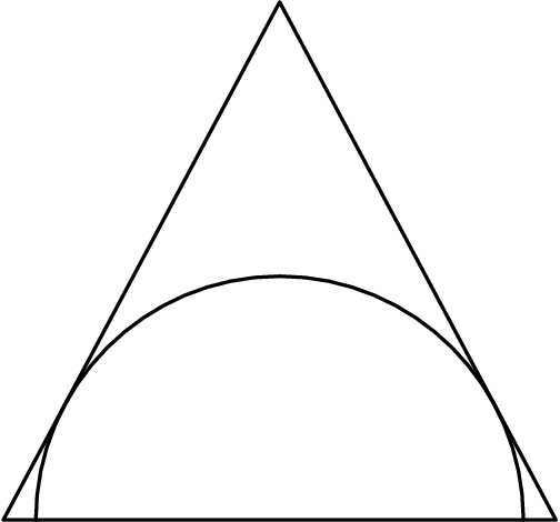 [asy]draw((0,0)--(8,15)--(16,0)--(0,0)); draw(arc((8,0),7.0588,0,180));[/asy]