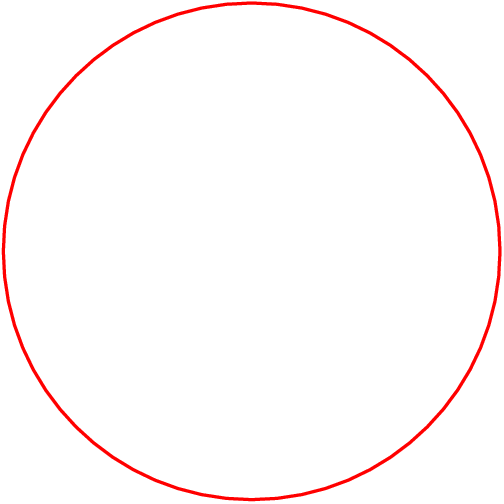 [asy] draw(circle((0,0),5),red+linewidth(1)); [/asy]