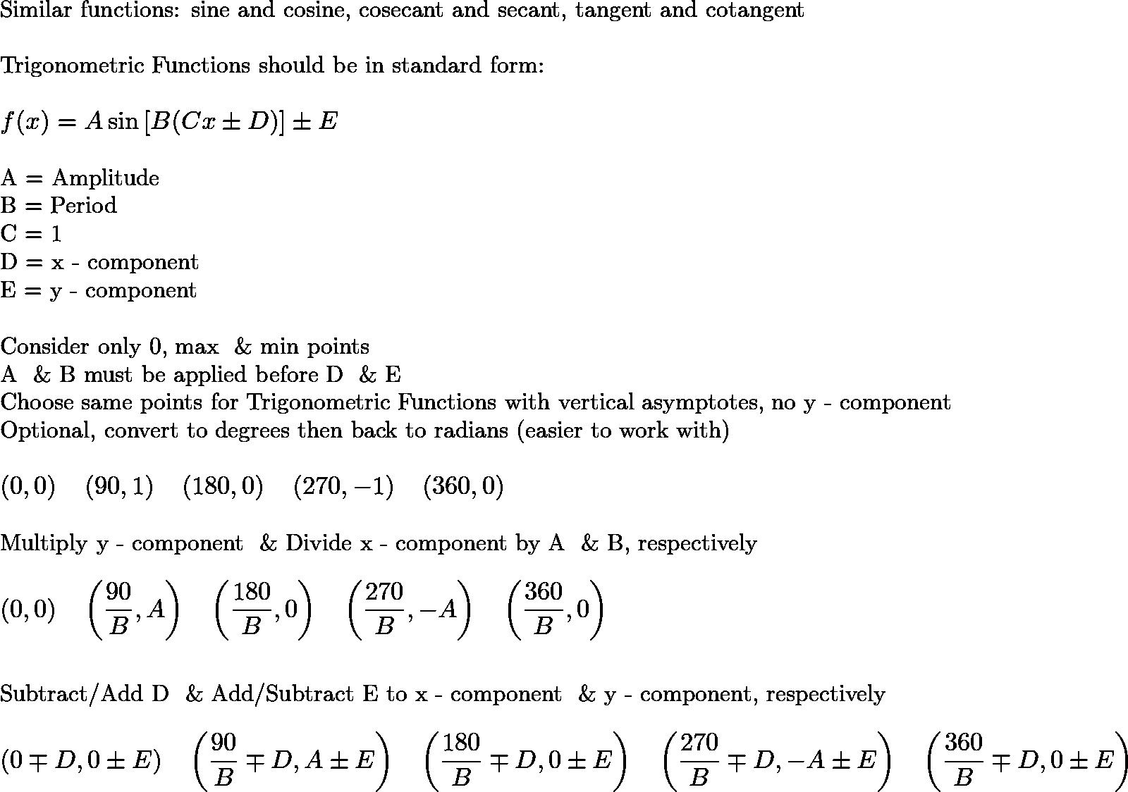 Rocomath Graphing Trigonometric Functions