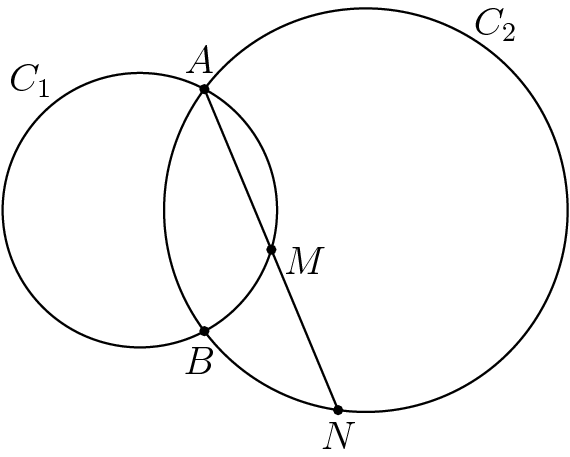 Bits Chord Bisected By Other Circle Usamts 2009