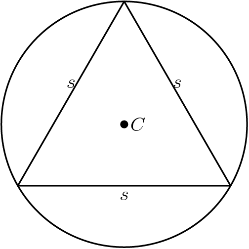 triangle with circle and line meaning