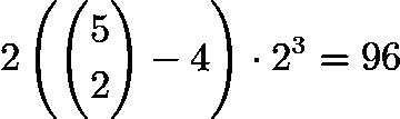 $2\left(\binom{5}{2} - 4\right) \cdot 2^3 = 96$